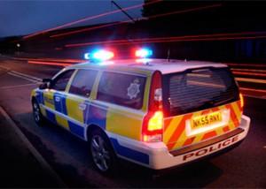 police volvo patrol car