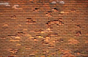 tiled roof damage